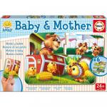 Set 6 Puzzle Baby and Mother 2 piese