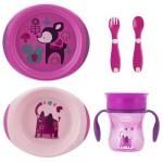 Set complet hranire Chicco Girl 12luni+