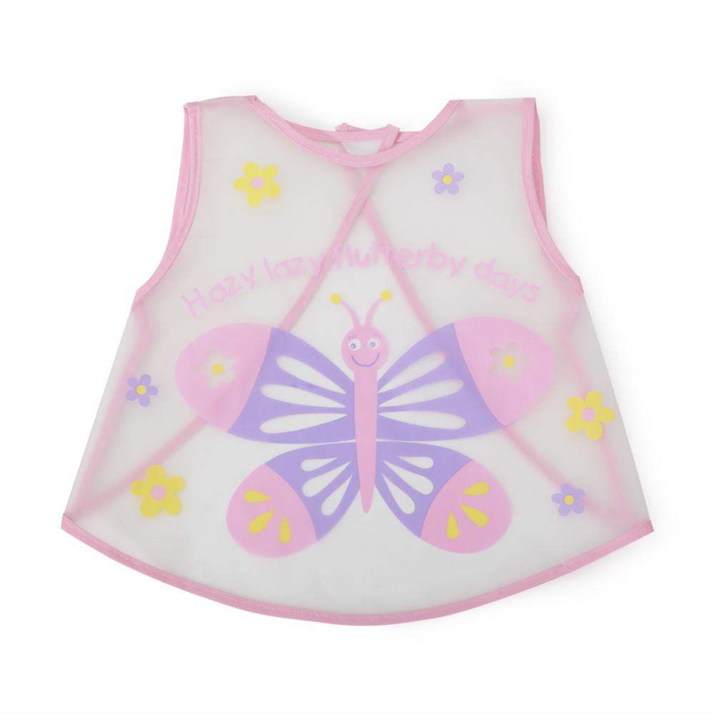 Baveta fluturas roz Cangaroo