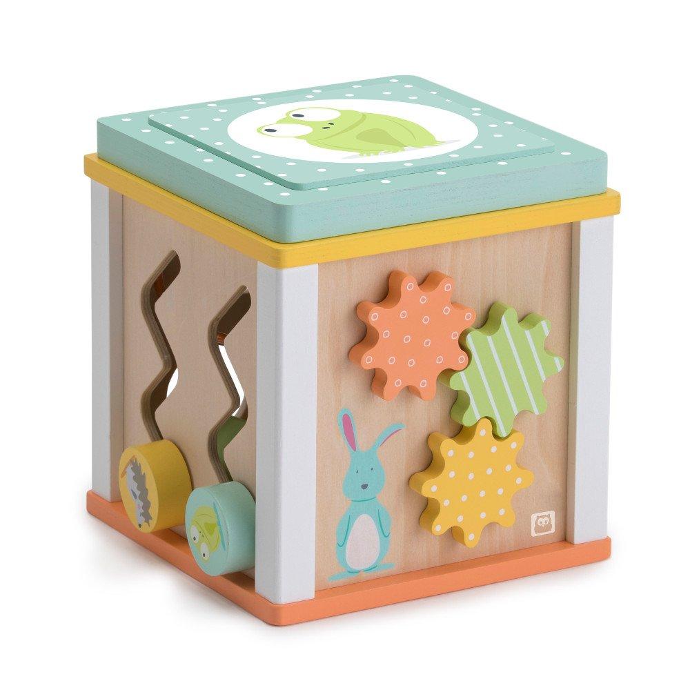 Cub din lemn cu 5 activitati educative