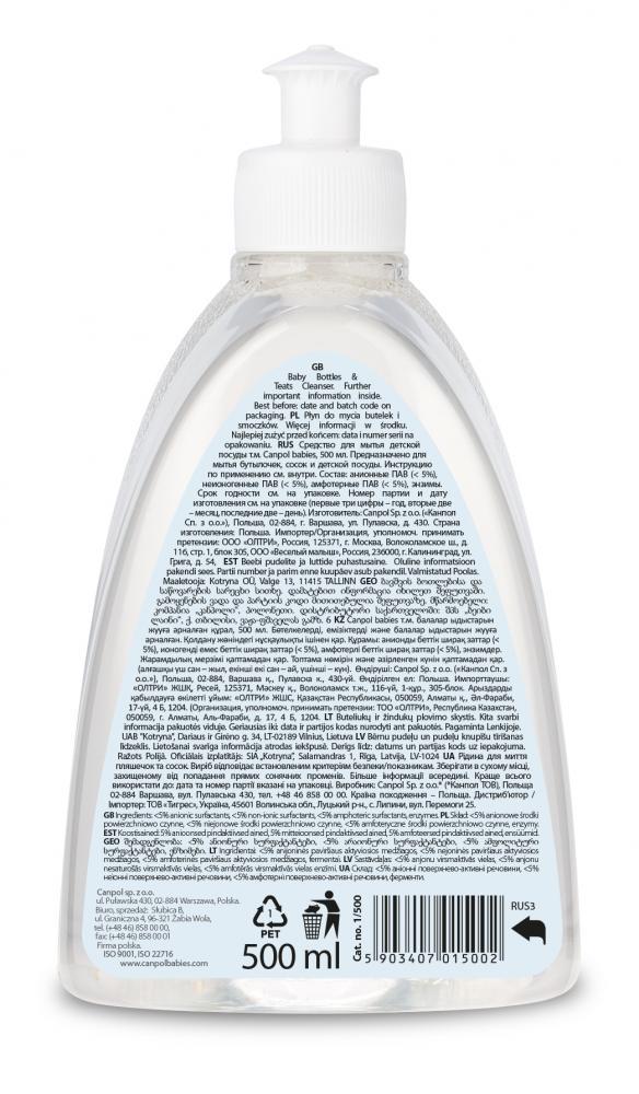 Detergent lichid pentru biberoane si tetine Canpol babies