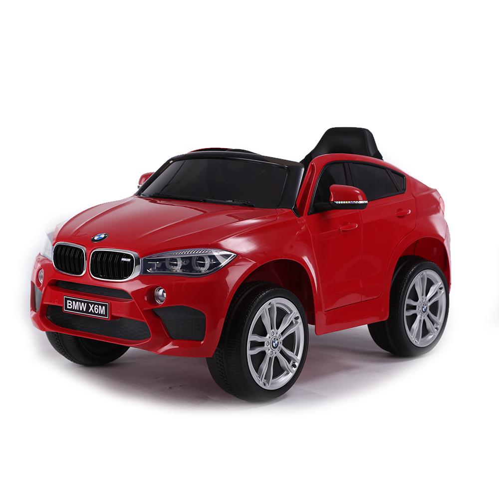 Masinuta electrica cu roti de cauciuc BMW X6M Red JJ2199