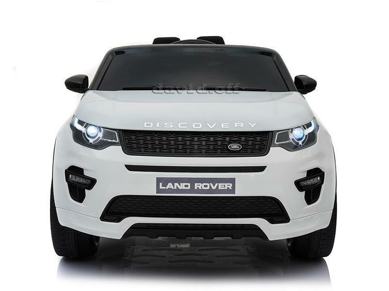 Masinuta electrica cu scaun de piele Land Rover Discovery Sport White