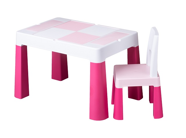 Set masuta cu scaunel Tega Baby Multifun Roz imagine