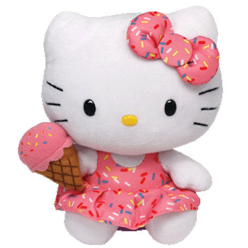 Plus Hello Kitty cu inghetata (15 cm) Ty