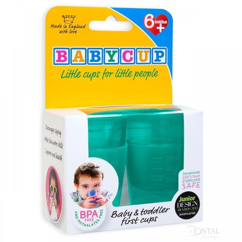 Primul meu pahar pentru bebelusi si copii Babycup Verde 6+