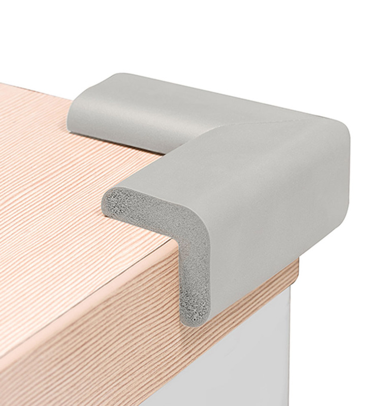 Set 4 protectii pentru colturi de mobila Baby Ono gri imagine