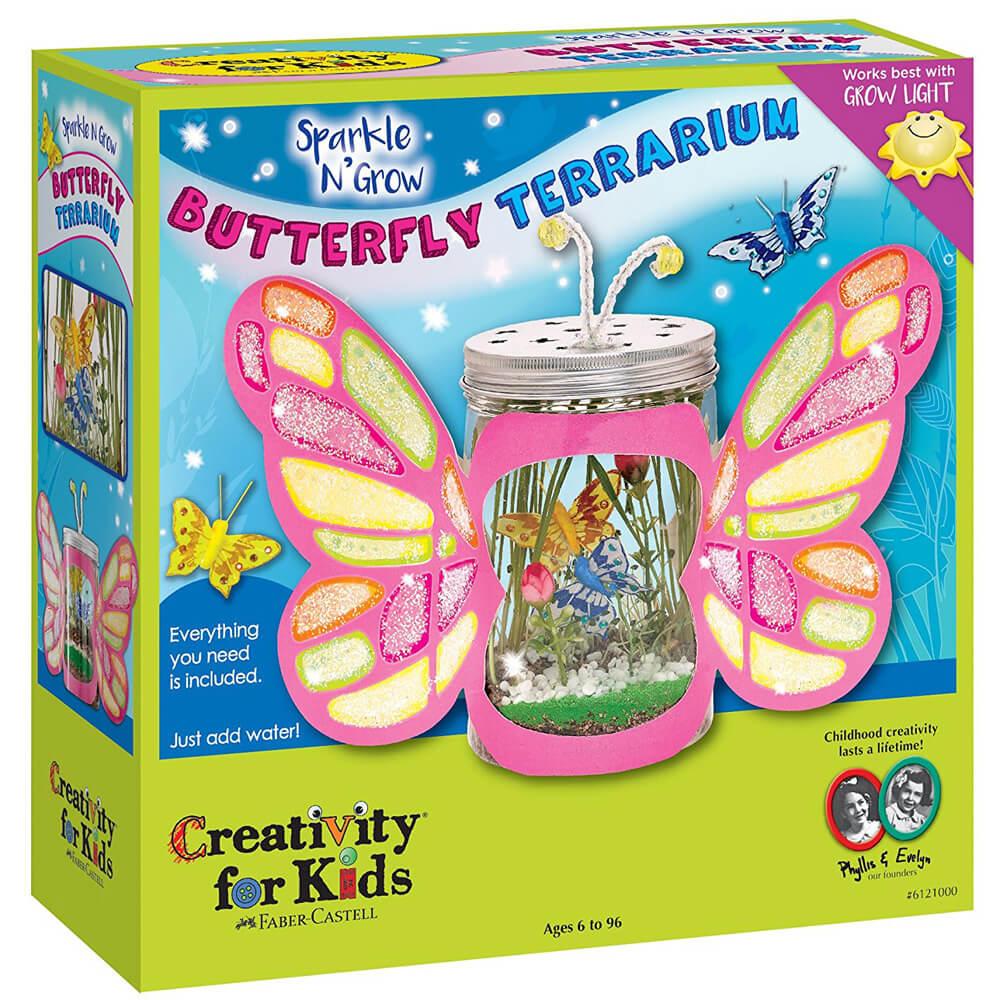 Set Creativity Grow&Sparkle Terariu Fluture Faber-Castell 0