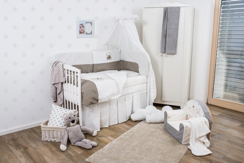 Set de pat pentru bebelusi Bear On The Cloud 6 piese