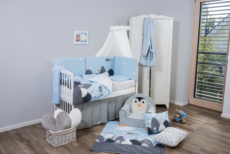 Set de pat pentru bebelusi Sky Story 6 piese