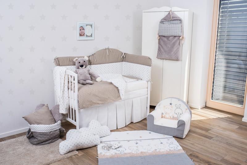 Set de pat pentru bebelusi Stars And Dots World 6 piese