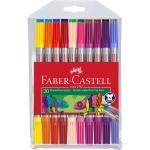 Carioca 20 Culori 2 Capete Faber-Castell 0