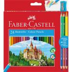 Creioane Colorate 24+3 Culori si Ascutitoare Faber-Castell 0