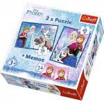 Puzzle Trefl 2in1 memo Anna si  Elsa