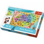 Puzzle Trefl harta Romaniei