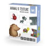 Puzzle educativ Invata texturile animalelor