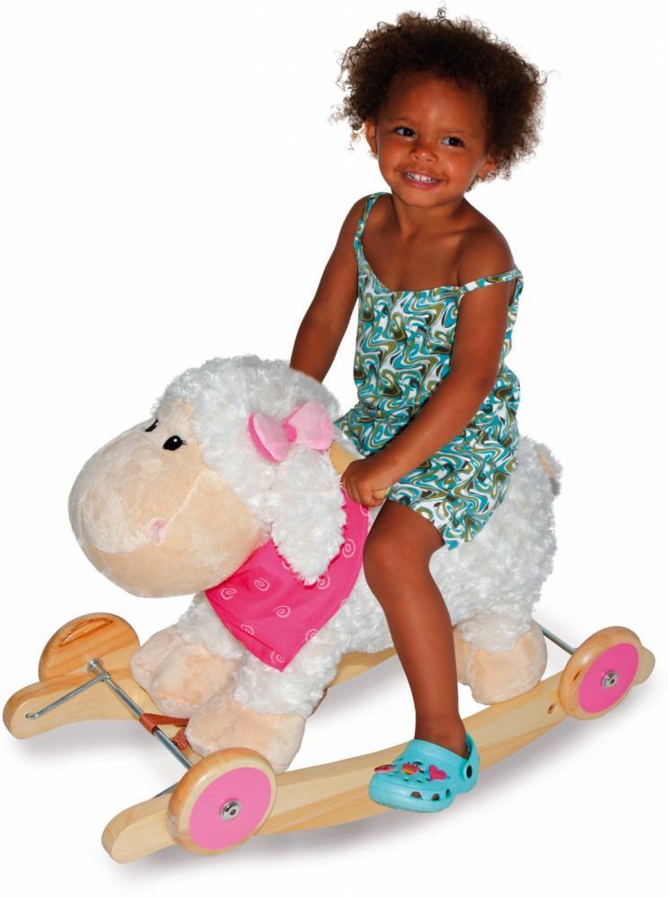 Balansoar din lemn cu roti si sunet Sheep imagine