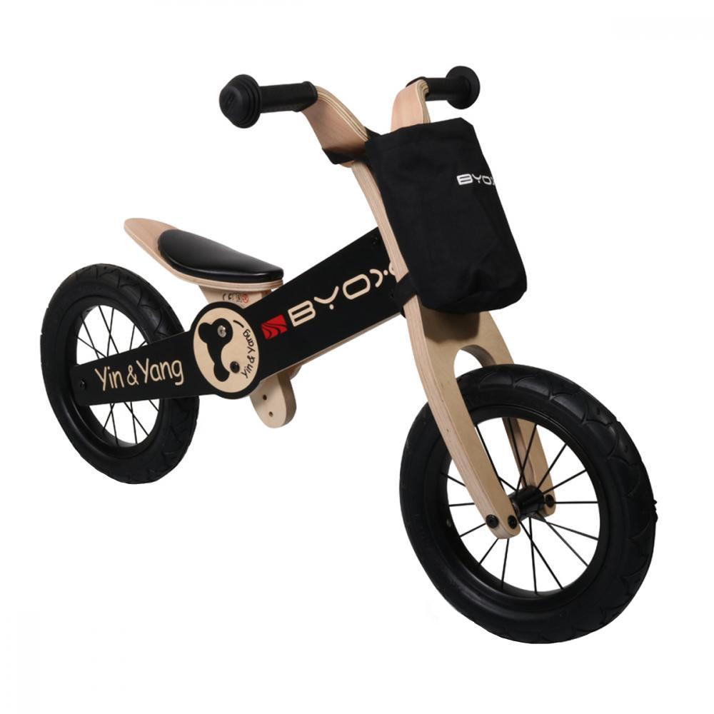 Bicicleta din lemn fara pedale Yin & Yang