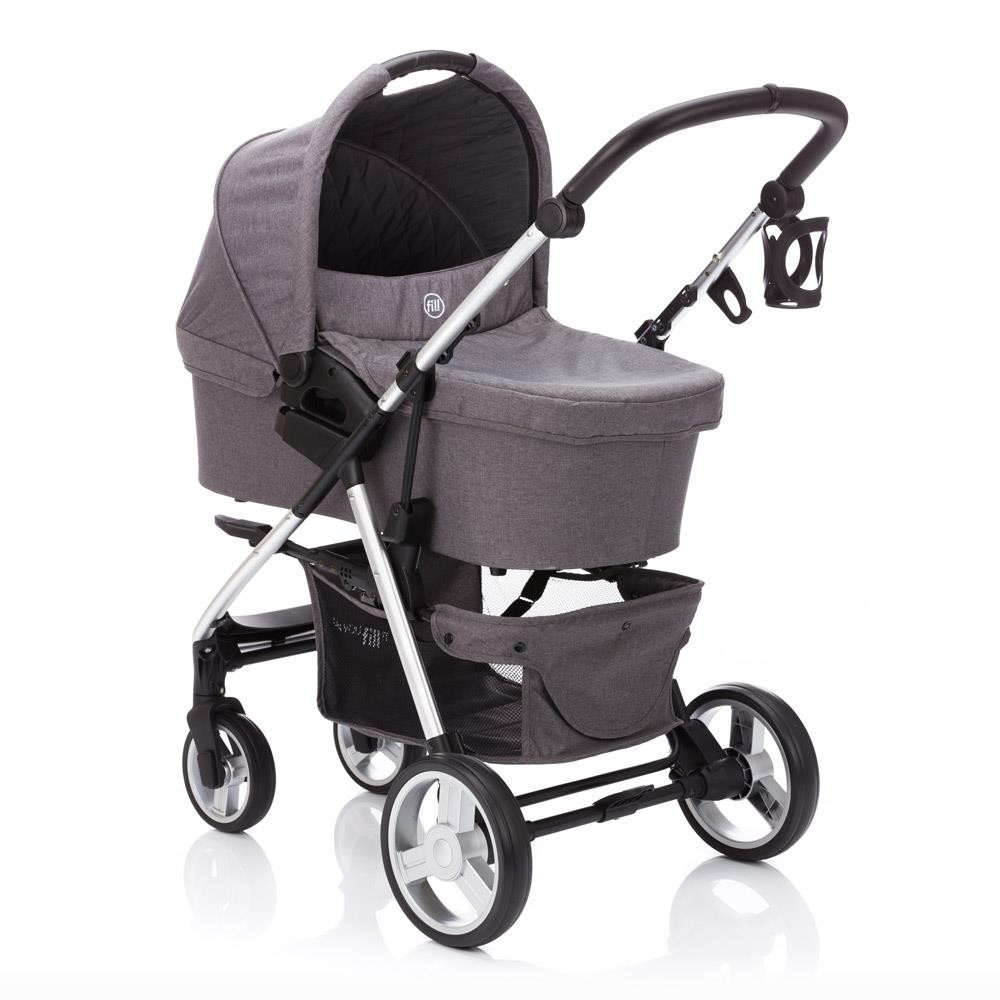 Carucior Lion System 3 in 1 Grey Melange Fillikid imagine