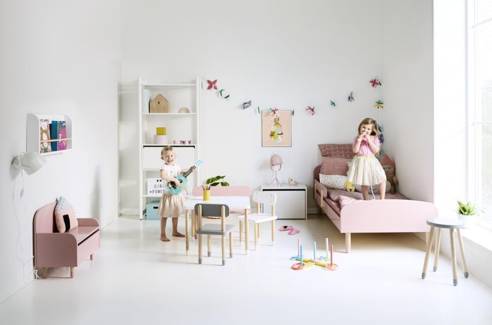 Etajera copii gri cu o polita Flexa Play imagine