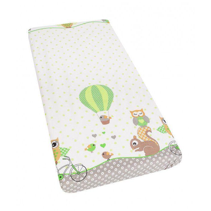 Lenjerie patut cu 3 piese Happy Owls Green 052
