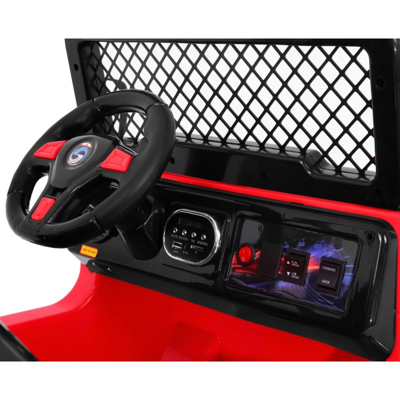 Masinuta electrica cu doua locuri si roti din plastic Drifter Jeep 4x4 Negru - 6