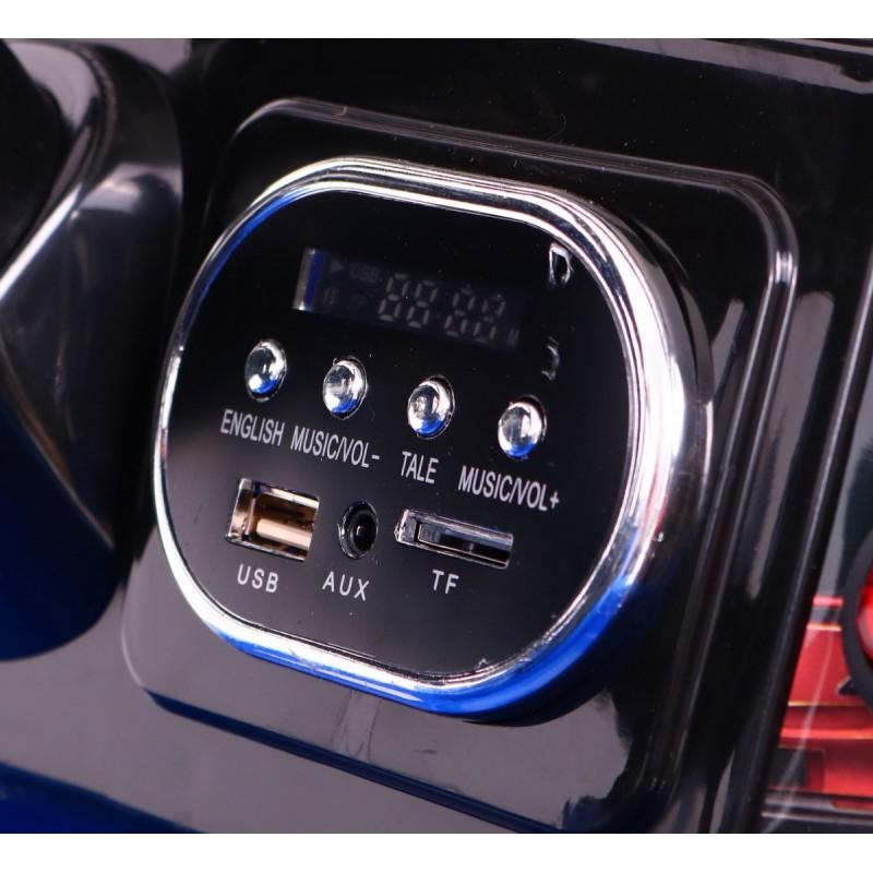 Masinuta electrica cu doua locuri si roti din plastic Drifter Jeep 4x4 Negru - 7