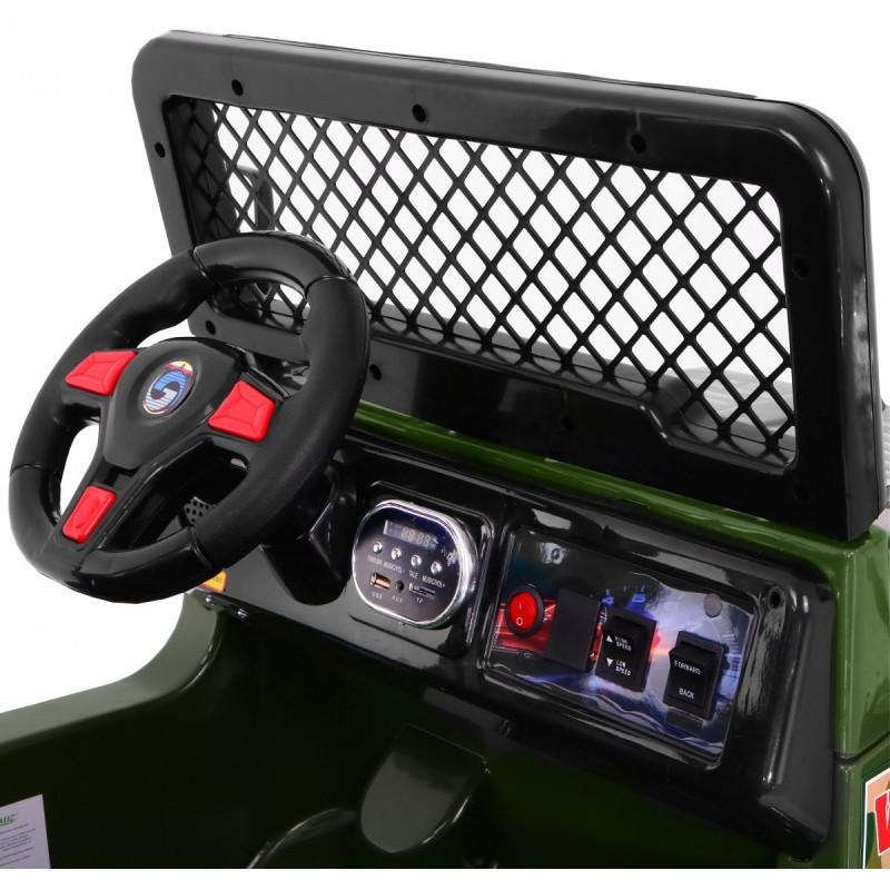 Masinuta electrica 12V cu roti din cauciuc Drifter Jeep 4x4 Pink - 9
