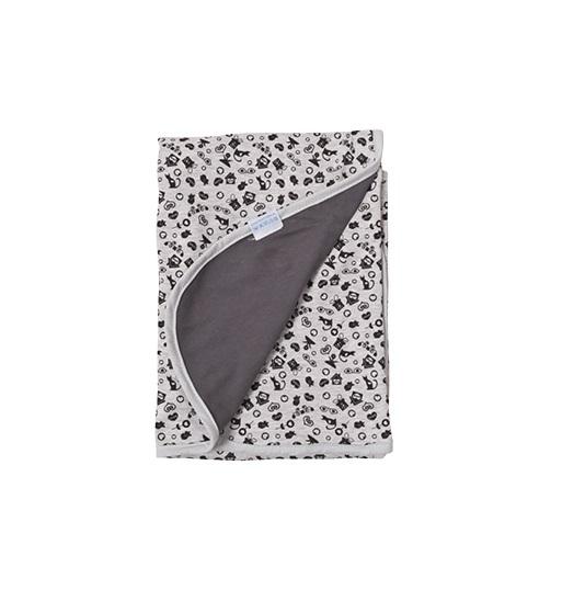 Patura de vara din bumbac 75x100 Ines GreyBlack