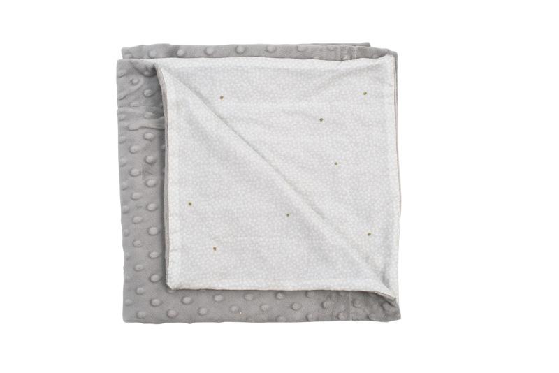 Patura in strat dublu cu buline in relief 120x90 cm imagine
