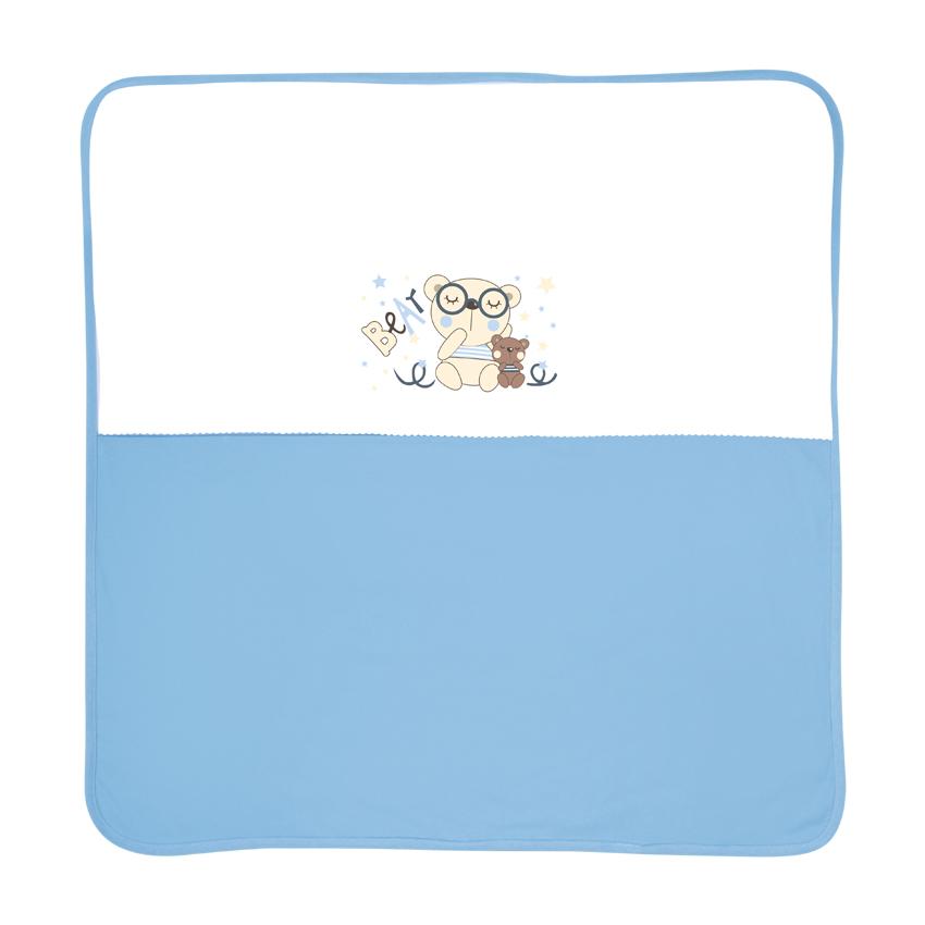 Paturica bumbac 90×90 cm Za Za Blue din categoria Camera copilului de la LORELLI