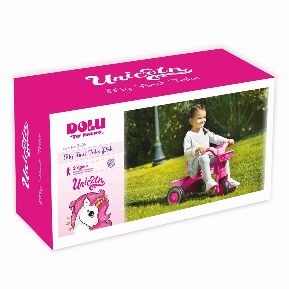 Prima mea tricicleta roz Unicorn