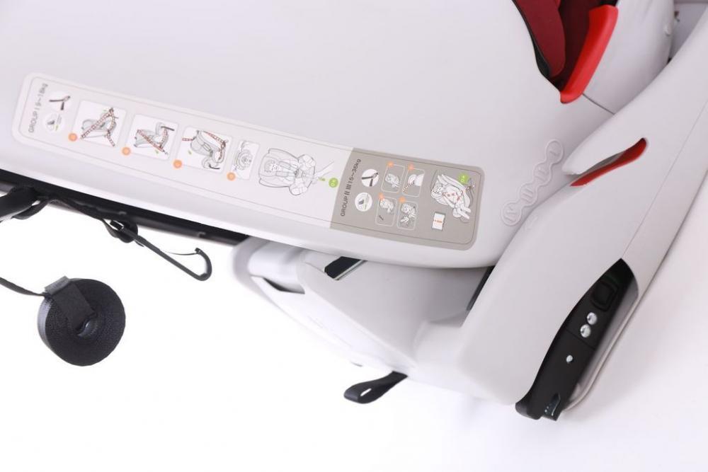 Scaun auto cu isofix 9-36 kg Viaggio Red