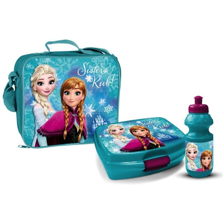 Set 3 piese geanta sandwich cutie sandwich si recipient lichide Frozen Star imagine