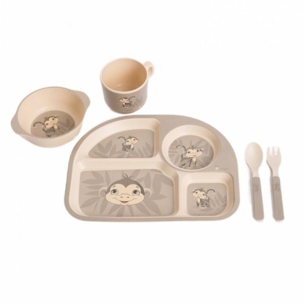 Set cina pentru bebelusi Maimuta Gri