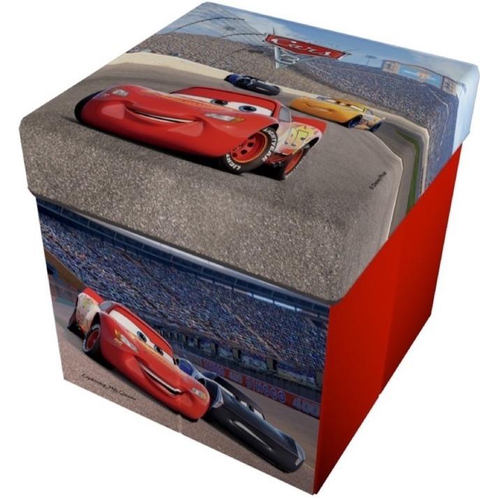 Taburet pliabil cu spatiu de depozitare Cars 3 Star imagine