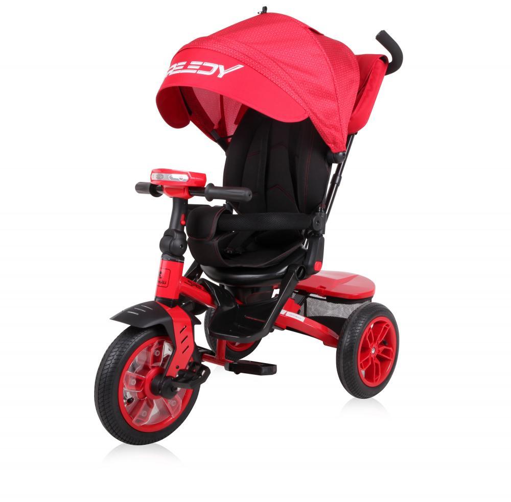 Tricicleta multifunctionala 4 in 1 Speedy Red Black