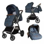 Carucior transformabil 3 in 1 Coccolle Acero Jeans
