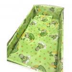 Lenjerie patut cu 5 piese Bunicul Ursulet Verde 120x60 cm