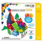 Set magnetic cu autocolante Magna Tiles House 30 piese