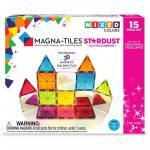 Set magnetic cu sclipici si oglinzi Magna Tiles Stardust 15 piese