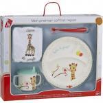 Primul meu set pentru masa melamina Girafa Sophie & Kiwi cutie cadou