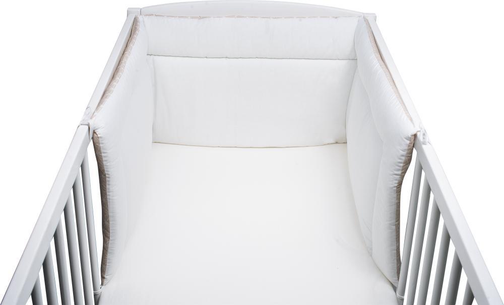 Aparatoare laterala pentru patut 190 x 40cm Beige White showflakes