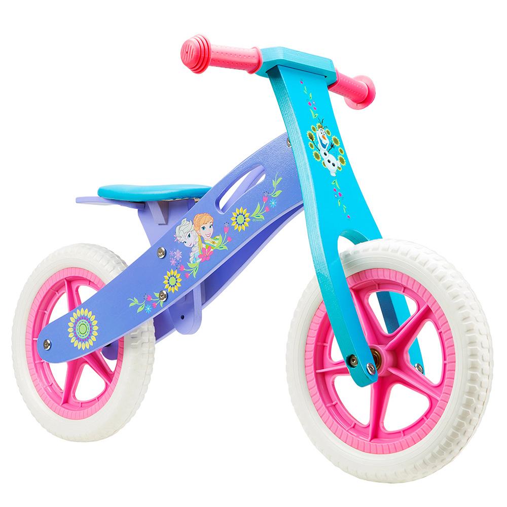 Bicicleta fara pedale din lemn Disney Frozen
