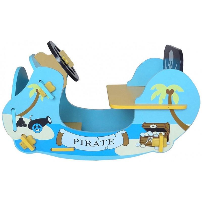 Balansoar din lemn Blue Pirate Boat imagine