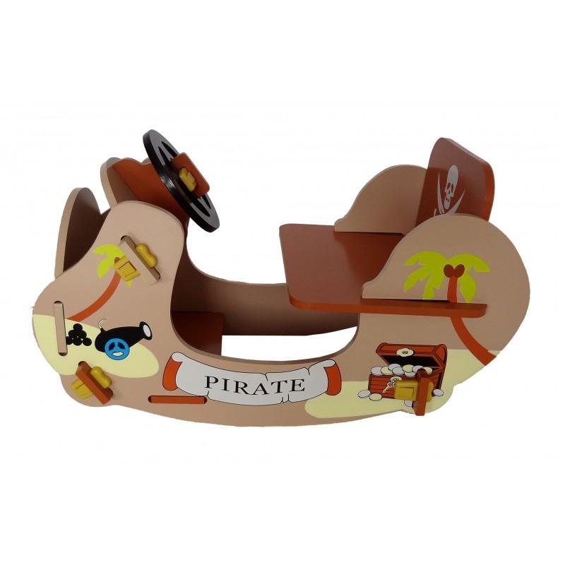 Balansoar din lemn Brown Pirate Boat