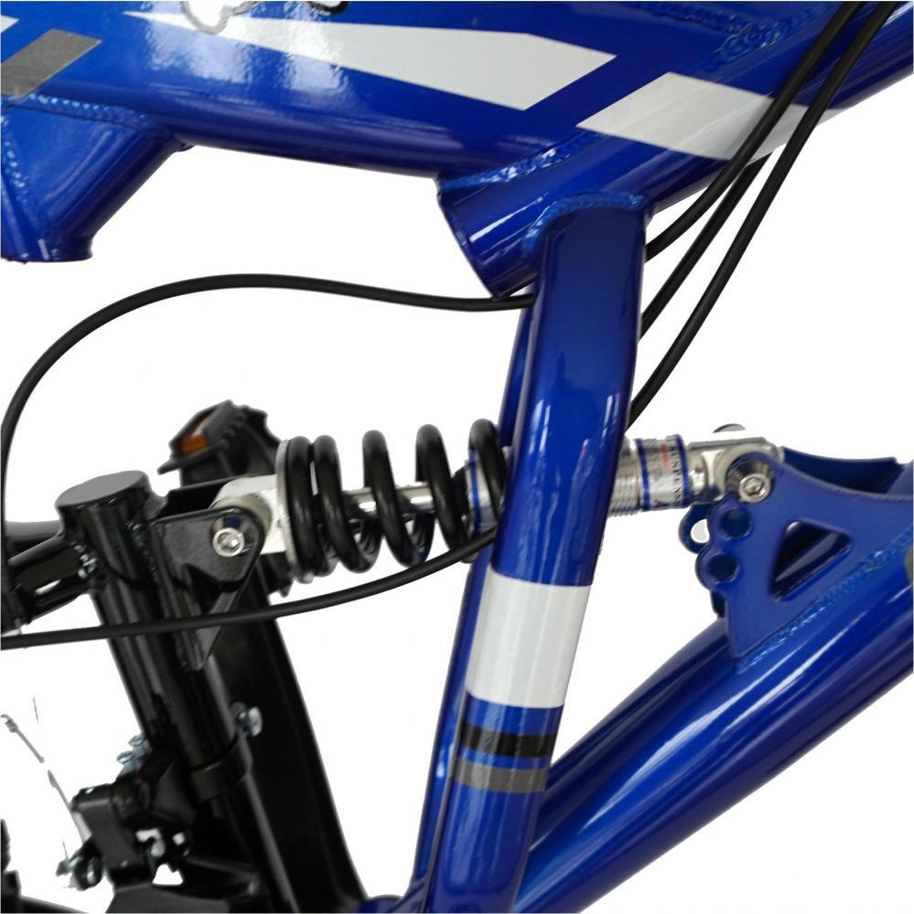 Bicicleta MTB-FS 26 Carpat ZTX C2642A cadru otel albastrunegru