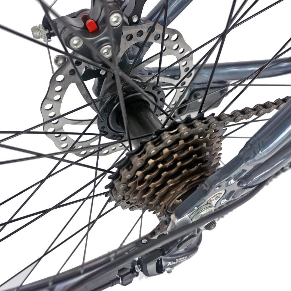 Bicicleta MTB-HT 26 Carpat Wrangler C2655B cadru aluminiu grirosu