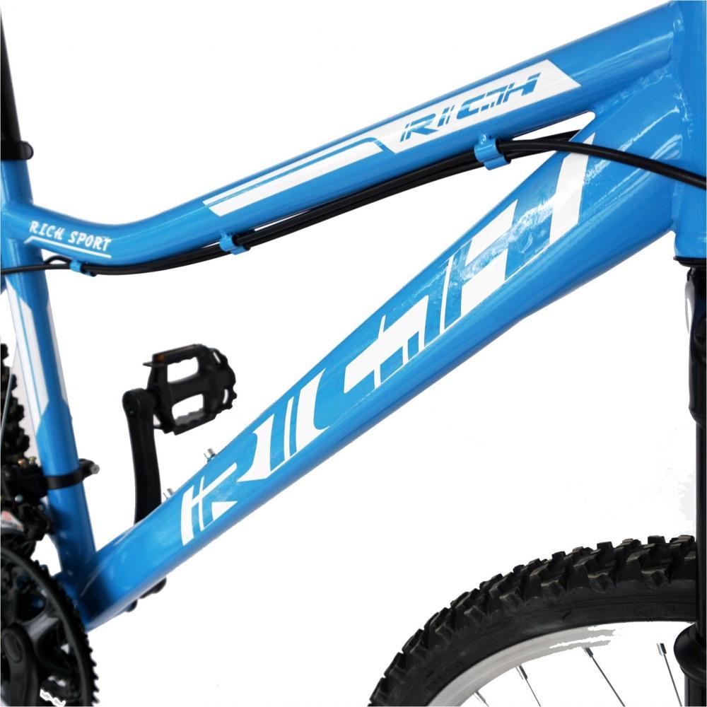Bicicleta MTB-HT 26 Rich R2652A cadru otel albastrualb