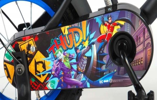 Bicicleta Volare pentru baieti 12 inch cu roti ajutatoare Batman